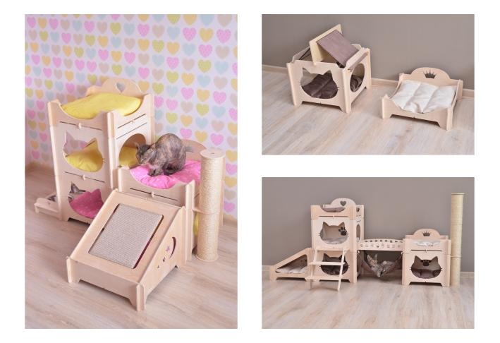 Модульные домики для кошек