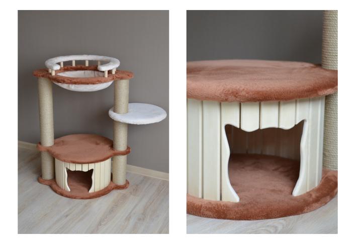 модулиные домики-когтеточки для кошек